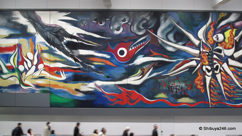 Art at shibuya station