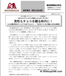 Morinaga Gyaku-choco survey Jan 2009