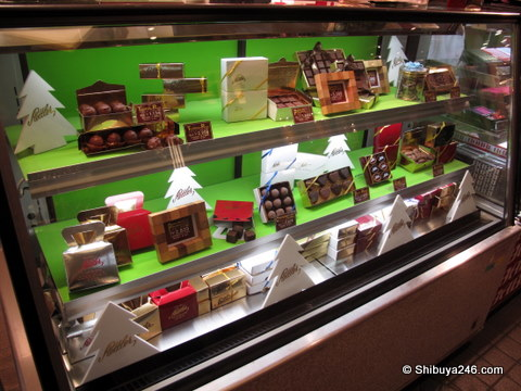 The display cases are always well presented